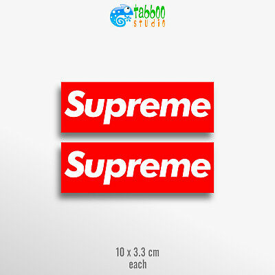 Supreme box logo stickers vinyl decal skateboard pegatinas pack laptop car bike