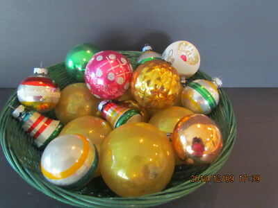 Vintage SHINY BRITE West Germany MERCURY GLASS CHRISTMAS ORNAMENTS LOT of 18!
