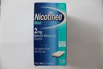 Nicotinell Mint 2mg Medicated Chewing Gum Regular Strength - 120 Pieces