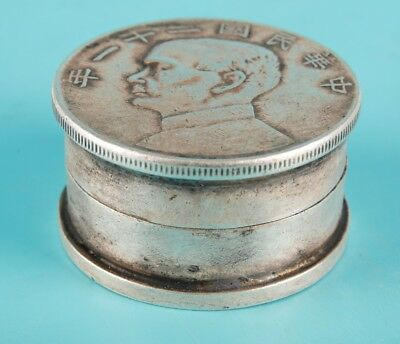Republican Period Unique Chinese Tibetan Silver Seal Box Old Collection Gift