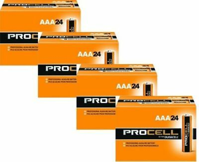 New Duracell Procell Aaa Alkaline Batteries 96 (4 Boxes Of 24) Exp 5+ Yrs