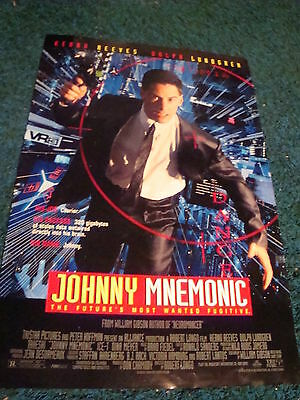 Johnny Mnemonic - Movie Poster With Keanu Reeves