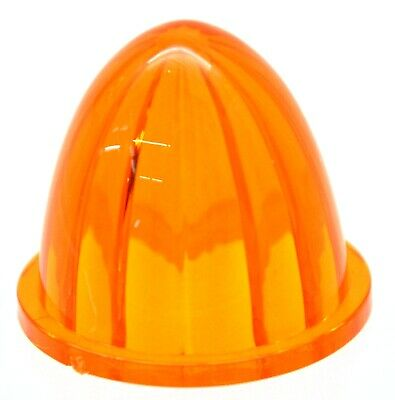 """bumper guide top lens watermelon amber plastic for 1 1/4"""" screw on base each"""