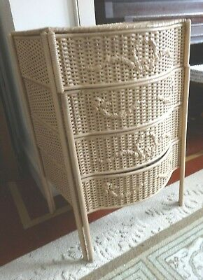 Vintage Barbola Art Deco Wicker Sewing Basket Stand Nursery Table French Cabinet