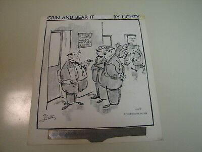 Grin and Bear It by George Lichtenstein - Nov 17, 1971 Original Daily Comic Art