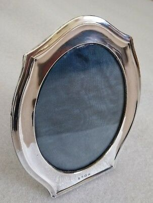 Antique Hallmarked Oval Silver Photo Frame, dated 1911