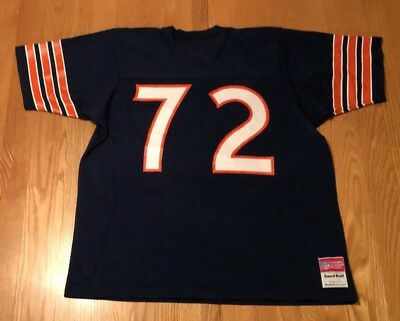 info for 812fe 8a207 VINTAGE WILLIAM REFRIGERATOR Perry #72 Chicago Bears Sand-Knit NFL Jersey XL