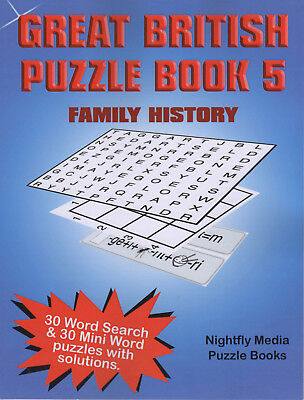 Great British Family History Puzzle Book Large Print Wordsearch and mini puzzles