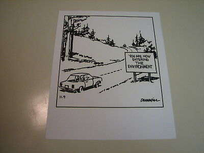 Ralph Dunagin Editorial Cartoon - Nov 9, ???? Original Art  - The Environment