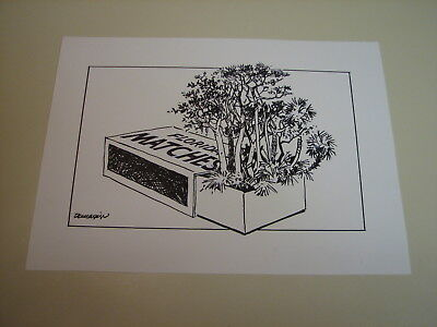 Ralph Dunagin Editorial Cartoon - undated Original Art - Forest Fires