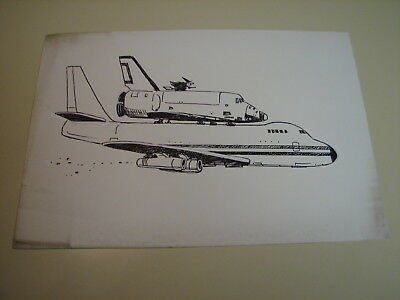 Ralph Dunagin Editorial Cartoon - undated Original Art - Space Shuttle Hitcher