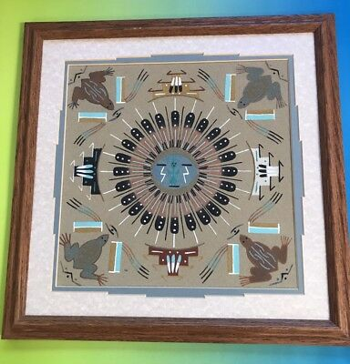 Sand painting Fred Hayes Native American Indian Navajo ?