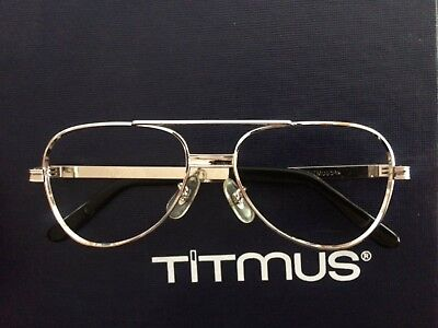 672c9f5cf1f Vintage Titmus Z87 Silver Men s Safety Eyeglass Frame New from demo kit