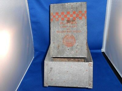 Antique Early Galvanized Purina Rabbit Poultry Feeder Vtg Old Farm House Decor