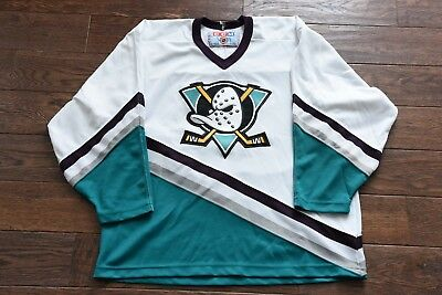 adbcfcd95 NEW VINTAGE XL ANAHEIM MIGHTY DUCKS Paul Kariya  9 Hockey Jersey ...