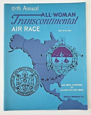 1961 15th Annual All Woman Transcontinental Air Races Official Program
