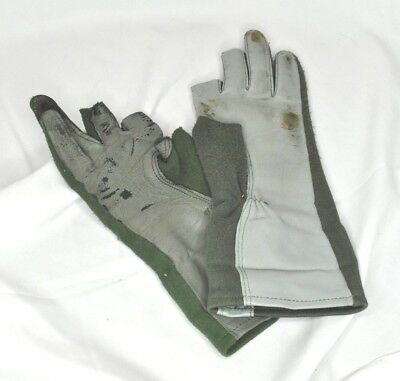 Nomex Modified Flight Gloves Wet Up for Infantry Fingers and Thumb Cut Size 9