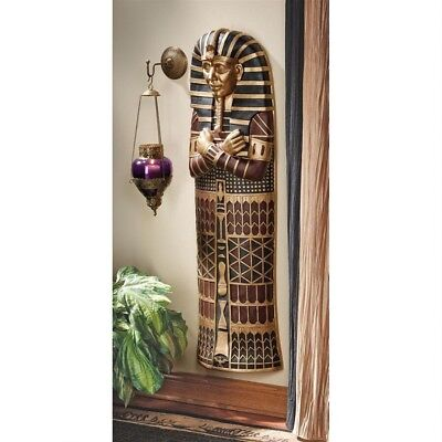 Ancient Egyptian Icon 4 Foot Tall King Tut Sculptured Wall Hanging Decor