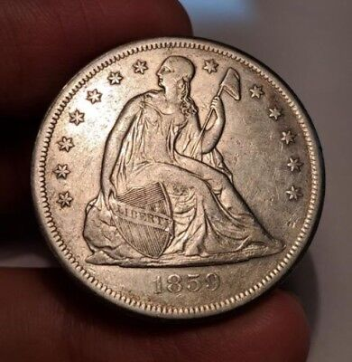 1859-O Liberty Seated Silver Dollar. Very Nice Coin.*** Low Mintage 360,000***