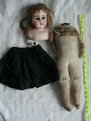 Very Tlc Antique Bisque Shoulder Plate Doll