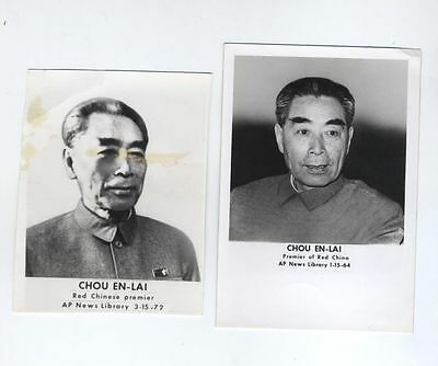 1972 & 1964 Press Photos Peking Chinese Premier Chou En-Lai Red China 周恩来
