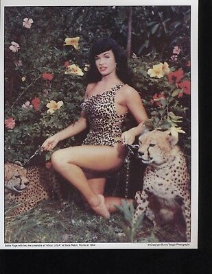 Bunny Yeager Bettie Page Photos 11 of them! Playboy Playmate Signed Pin Up Model
