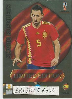 :Panini Adrenalyn XL World Cup Russia 2018 Limited Edition Sergio Busquets: