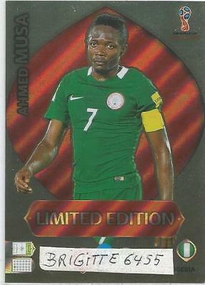 .Panini Adrenalyn XL World Cup Russia 2018 Limited Edition Ahmed Musa