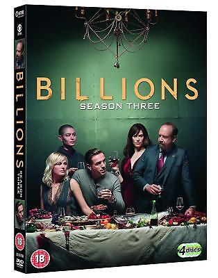 Billions Season 3  [ Three ] Dvd New Sealed