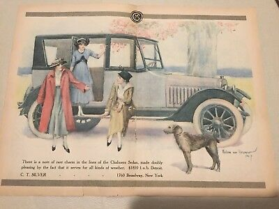 1917 Chalmers Ad Original Color 1917 Dort Ad 3 Ads Total