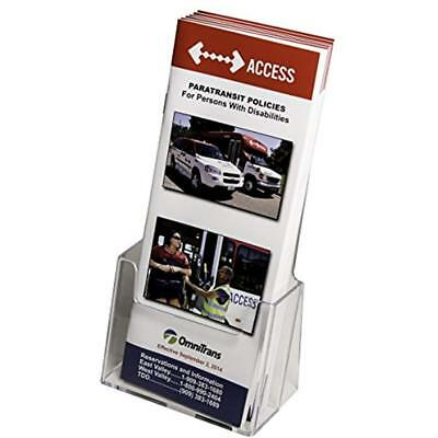 Clear-Ad LHF-S100 Acrylic Trifold Brochure Holder Pamphlet Display Stand (Pack