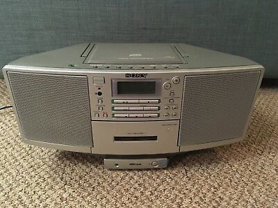 Sony ZS-D5 Vintage Sony Boombox CD Cassette Player Radio MD Minidisc Link