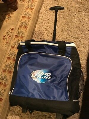VINTAGE BUDWEISER BUD Light Rolling Wheeled Cooler Ice Chest