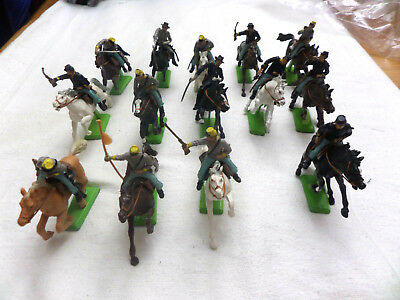 Vintage 1971 Britains Deetail Am.Civil War Union & Confederate Toy Soldiers x14