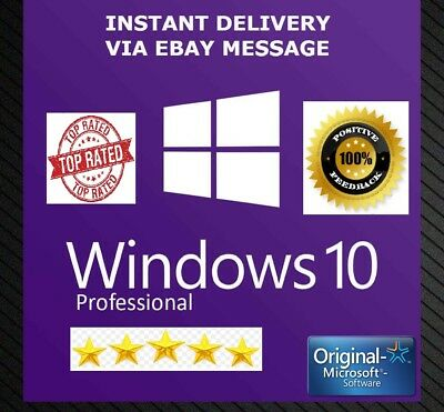 ✅ Windows 10 Pro 32 / 64bit Professional License Key Original Code Genuine ✅