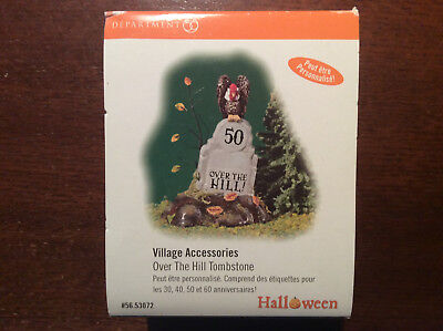 Department 56 Snow Village Over the Hill Tombstone Retired #56.53072 NIB