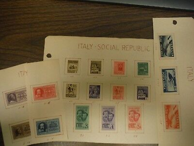 WPPhil ITALY/ ITALY-SOCIAL REPUBLIC STAMPS MH