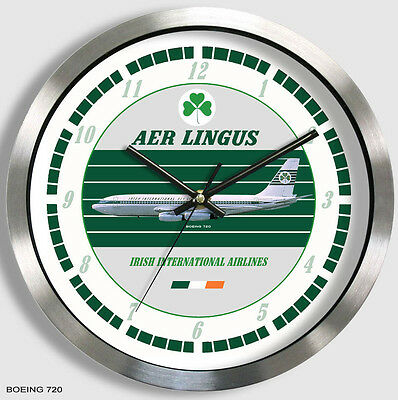 AER LINGUS BOEING 720 WALL CLOCK Irish Airlines 707 60s metal