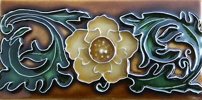 Art Nouveau / Arts & Crafts Ceramic Decorative Tile by Porteous 3x6 Border tile