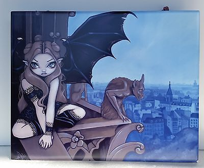 """Jasmine Becket-Griffith """" The Secret of Notre Dame """" Fairy Wall Art Tile ©2008"""