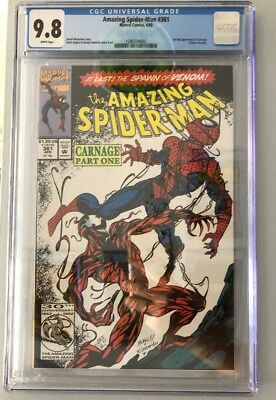 Amazing Spider-Man #361 CGC 9.8 (1st Carnage) Apr.1992 Marvel