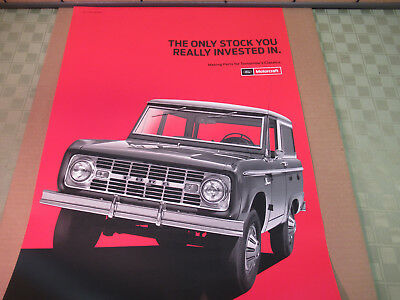 Ford Motorcraft Poster 1967 Bronco Genuine Parts Ad Suitable For Framing Garage