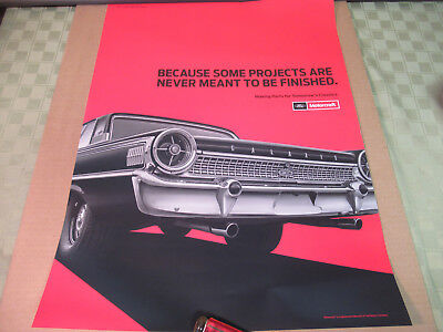 Ford Motorcraft Poster 1963 Galaxie XL 500 Genuine Parts Ad Garage For Framing
