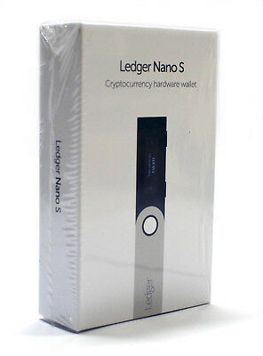 Ledger Nano S Cryptocurrency Hardware Wallet - Brand New Factory Sealed
