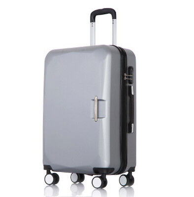 D862 Silver Universal Wheel Coded Lock Business Suitcase Luggage 22 Inches W