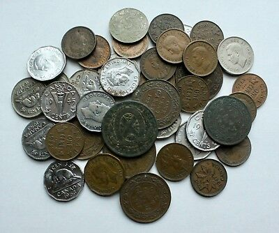 OId Canada Coin Lot: Collection of OId Coins from Canada