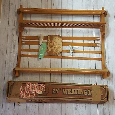 "NEW Vtg Erica 25"" Weaving Loom Portable 3251 Instruction Weaving Idea Booklet"
