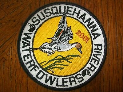 """Pa Pennsylvania Game Fish Commission Patch 4"""" 2001  Susq. River Waterfowlers"""