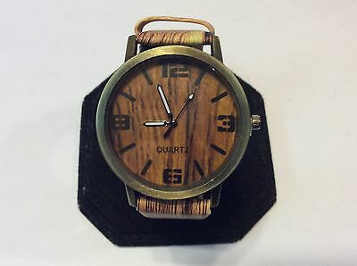 Collectible/rare/unique wood style unsiex watch,new old stock,very nice     M871
