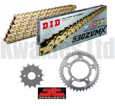 Honda VFR800 ABS 2002-2011 DID ZVMX Gold X-Ring Chain JT Sprockets